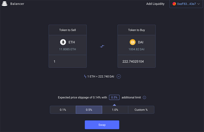 balancer exchange