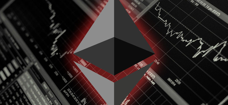 A sharp decline in Ether Balances on centralized exchanges